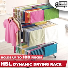 (KORYO MART) HSL Drying Rack / Hold up to 100 clothing / Dynamic and Strong / Stainless Steel