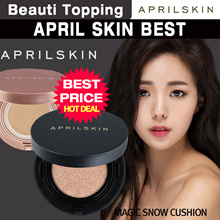 ★Q10 LOWESTE PRICE★APRILSKIN BEST COLLECTION★April Skin Magic Snow Cushion Black 2.0[Beauti Topping]