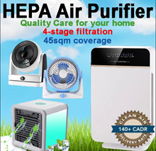 ★ 4-Stage Filtration HEPA Air Purifier ★UV Light Sanitizer Deodorizer Low Noise 484 sqft Coverage