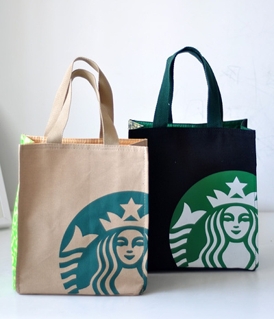 Qoo10 3 Sizes Exclusive An Only Starbucks Recycle Canvas Lunch Carrier T Bag Wallet