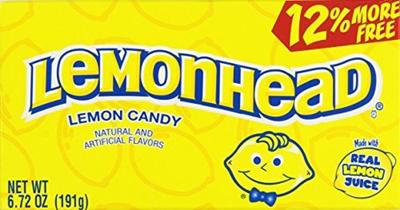 (LEMONHEADS) Lemonhead Lemon Candy Theatre Boxes 6 72 Oz (2 Boxes)-