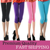 FAST SHIPPING * 2016 Silk Stretch Leggings Skinny Slim Pants/ Three Quarter  ***