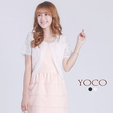 YOCO - Shorts Cardigan in Lace-6018389-Winter
