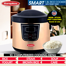 Europace 1.8L SMART Rice Cooker with Preset Timer (A2) - ALL IN ONE - 15 MONTHS WARRANTY