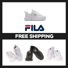 [FILA] 10Type Low-Top Sneakers Disruptor II BLACK WHITE UNISEX SIZE TAKSE