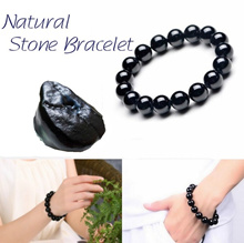 100% Pure Natural Crystal Stone Black Tourmaline Bracelet Energy Stone Bracelet Man Woman Lucky Ston