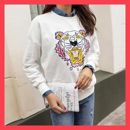 [CHICHERA] Korean fashion NO.1 / Tiger embroidered man-to-man tee