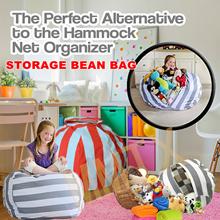 New Creative Modern Storage Stuffed Animal Storage Bean Bag Chair Portable Kids Clothes Toy Storage