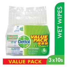 Dettol Anti Bacterial Wet Wipes 10S Value Pack