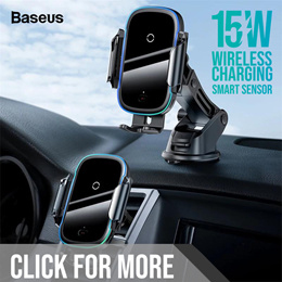 Baseus Wireless Charging Car Mount Phone Holder / Car Accessories / Car Charger