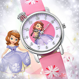 Korean girls digital watch cartoon children watches waterproof girls Princess Sophia table primary p