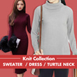COLLECTION KNIT SWEATER AND DRESS TURTLE NECK // BOXY SWEATER // LOOSE SWEATER // KNIT DRESS