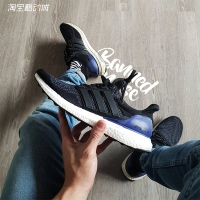 innovative design 94eb4 3fa44 Adidas Adidas Ultra Boost OG UB primary original black purple G28319 big  talker running shoes
