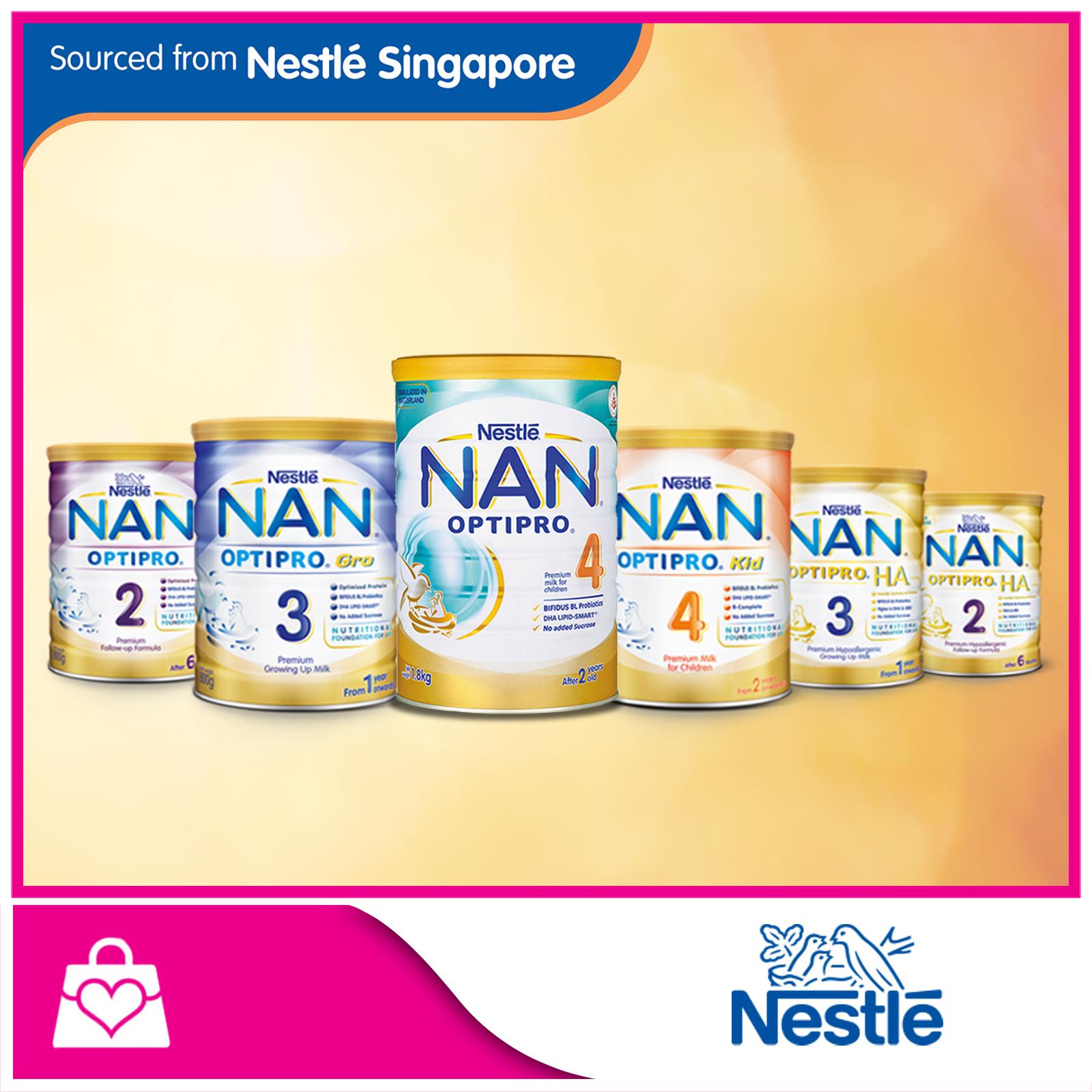 NAN[Nestle]Nan OPTIPRO® H A  2 Follow-Up/H A  3 Growing Up/Kid 4 Growing Up  Milk/Gro 3 Growing Up Milk