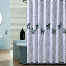 High Quality Butterfly Shower Curtains Polyester Waterproof Bathroom Shower Curtain America Style Ba