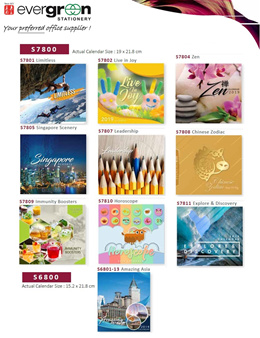 2019 Table Calendar  S7801/S6801 COLLECTIONS. Mix Match Any 2