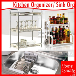 [FREE Delivery!] Kitchen SINK-NEAT stainless 304 [with lock-screw] ■ Kitchen Organizer_ SG_