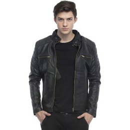 Leather Retail Faux leather Designer Jacket For Man
