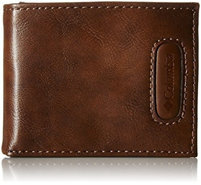 9d2c5c9b1c5 Columbia Mens RFID Blocking Passcase Wallet with Inlaid Logo Patch, Tan,  One Size
