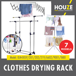 ♦ Clothes Drying Rack ♦ Single Pole ♦ Double Pole ♦ Triple Layer ♦ Space Saving ♦ Stainless Steel