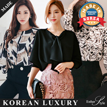 ★Get Qoo10 Cart Coupon★Authentic [ Esther Style ] High Quality Work . Office Blouse  / Plus Size / Made in Korea