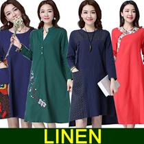 national art style Woman linen dress/maternity/Suit linen dress female/Pregnant women jacke