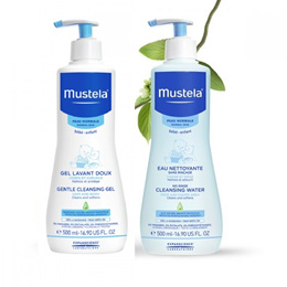 Mustela Gentle Cleansing Gel 500ml / No-Rinse Cleansing Water 500ml / Cheapest in qoo10