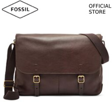 [FOSSIL OFFICIAL STORE] FOSSIL BUCKNER DARK BROWN LEATHER MESSENGER BAG MBG9373201