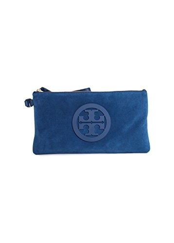 3a72508f7c4 Qoo10 - Tory Burch Charlie Suede Leather Wristlet Clutch in Symphony ...
