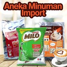 MACAM MINUMAN IMPORT OVALTINE Swiss 1Kg Chocolate - Milo Nestle Pro - Nescafe Vanilla Latte- Nescafe