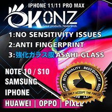 iPhone 11/Note 10★Samsung/iPhone/Huawei★Tempered Glass Screen Protector/Films★No Sensitivity Issue