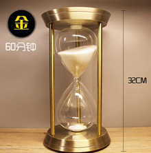 AONE creative metal hourglass ornaments timer birthday gifts Office decorations home decor men and w