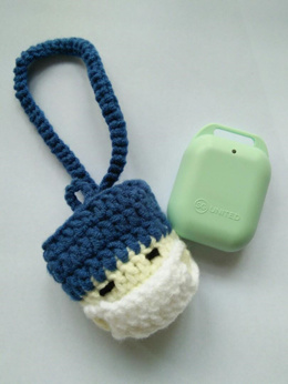 Handmade Crochet TraceTogether Token Pouch Token Case Operation Doctor With Mask Design