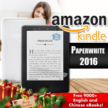 ★Amazon Kindle Paperwhite 2018 (8th Gen) 2016 (7th Gen) Free 9000+ English and Chinese eBooks Gifts