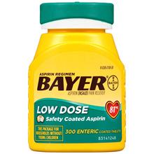[BAYER] Bayer Aspirin Bayer Aspirin Regimen, Low Dose (81 mg), Enteric Coated, 300 Count