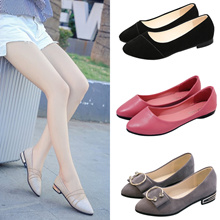 Real Genuine Soft Leather Comfortable Shoes Pumps Flats Loafers Casual Walking Women Office Ladies