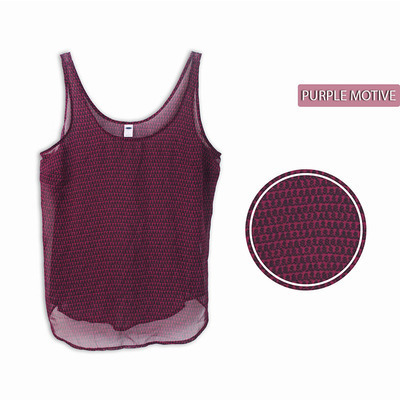 TANKTOP PURPLE MOTIF