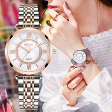 Women Watches Fashion Diamond Ladies Wristwatches Stainless Steel Silver Quartz Watch