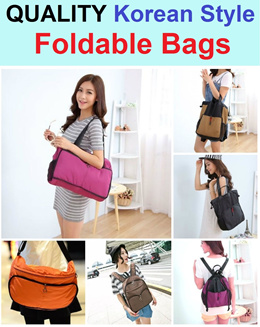 Quality Foldable Bags / Christmas Gift / Korean Style / Sling Bag / Shoulder Bag / Backpack / Travel Bag / 3 Way Bag / Light Weight / Soft Texture / Durable / Portable / Travel / Multi Purpose