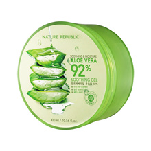 (100% Original Imported Product from Korea) Limited Quantity Buy 1 FREE 1 : Nature Republic Aloe Vera 92% Soothing Gel 300ml Free Shipping!