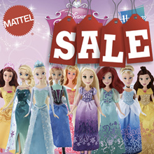Disney Princess Sparkling Princess Dolls/Cinderella/Beauty/ Rapunzel/ Little Mermaid/Elsa/Anna