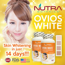 Nutra Botanics OVIOS WHITE🔥500mg L-Glutathione + Collagen🔥Whiter Fairer Skin In Just 14 Days