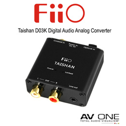 [FiiO] Taishan D03K Digital Audio Analog Converter / Black Color / 1 Year Local warranty