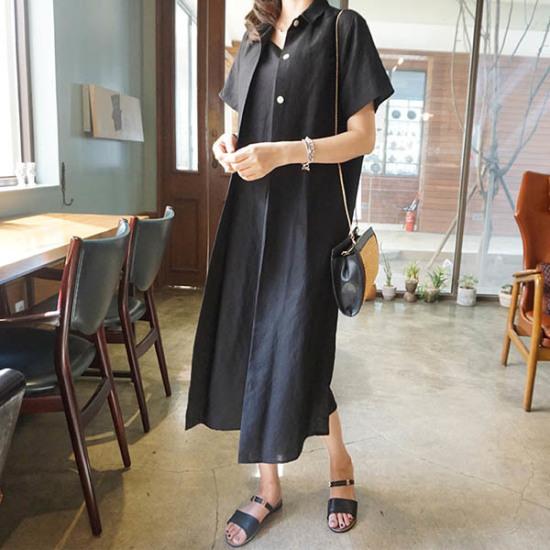 モニカルームシャツ台opsワンピース プリントのワンピース/ 韓国ファッション