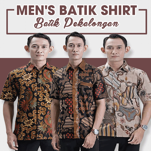 Mens Batik Shirt Collections Deals for only Rp50.000 instead of Rp50.000