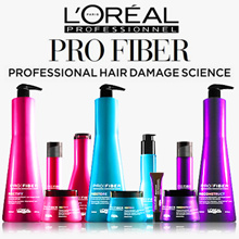 LOreal PRO FIBER Shampoo 1L 250ml Conditioner 200ml Leave in Masque 200ml - Hair Damage Repair