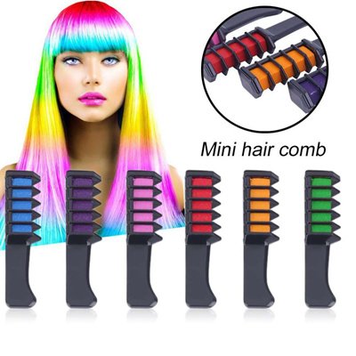 6PCS Mini Disposable Personal Salon Use Temporary Hair Dye Comb  Professional Crayons for Hair Color
