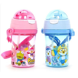 ★★Special offer only 10pcs★★ Pororo one touch silicon straw water bottle / Pororo cup (Given sweety)