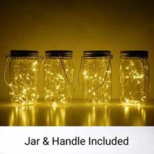 Home DIY Decor Solar Mason Jar Lid Insert LED Mason Jar Solar Light For Glass Mason For Home Decor