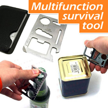 Multifunction survival tool / Wallet Knife / Wallet tool / camping emergency multi function knife